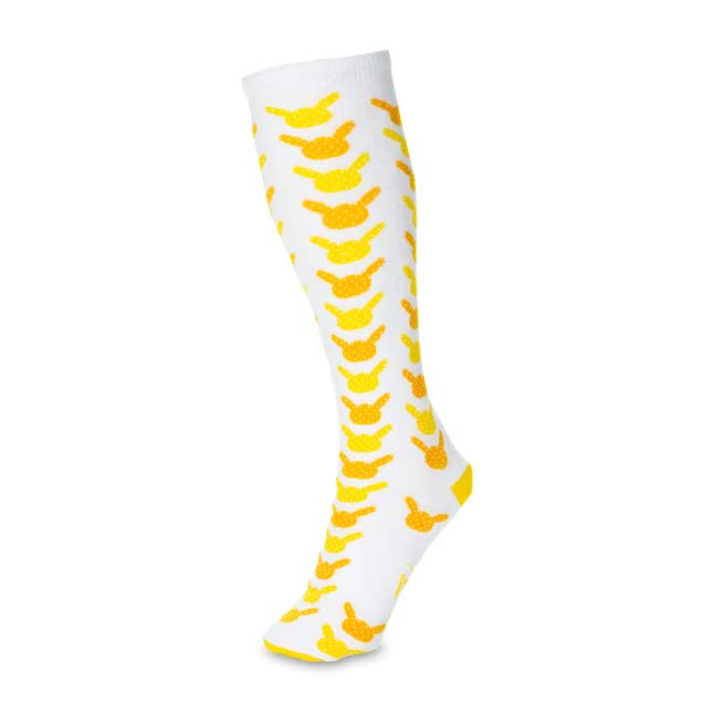 Image for Pikachu Dots Knee Socks (One Size—Adult) from Pokemon Center