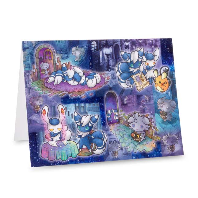 Image for Espurr & Meowstic Wanted Notecard Set (12 cards, envelopes, and seals) from Pokemon Center