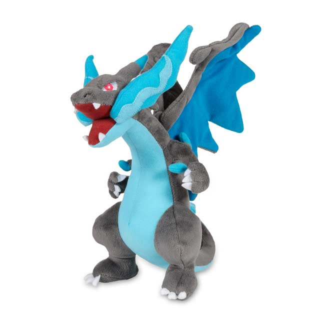 "Image for Mega Charizard X Poké Plush (Large Size) - 10 1/2"" from Pokemon Center"