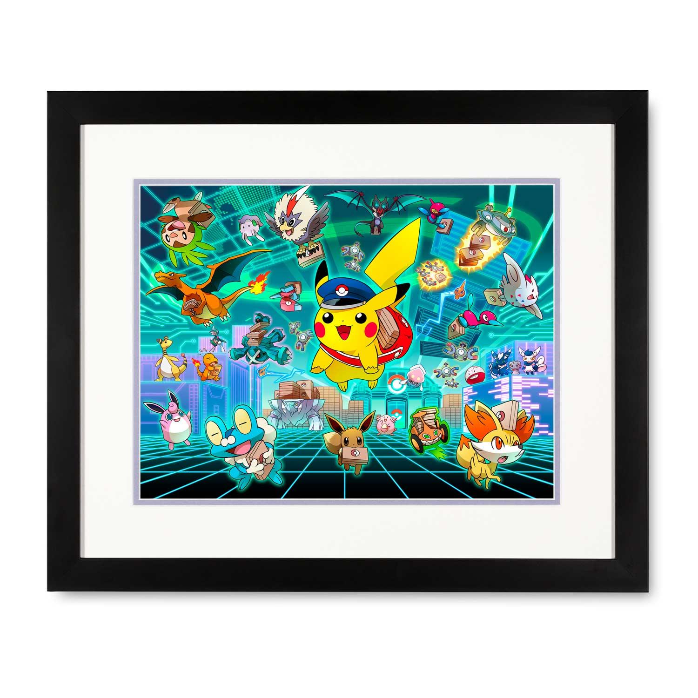 pikachu print grand opening pokémon center original