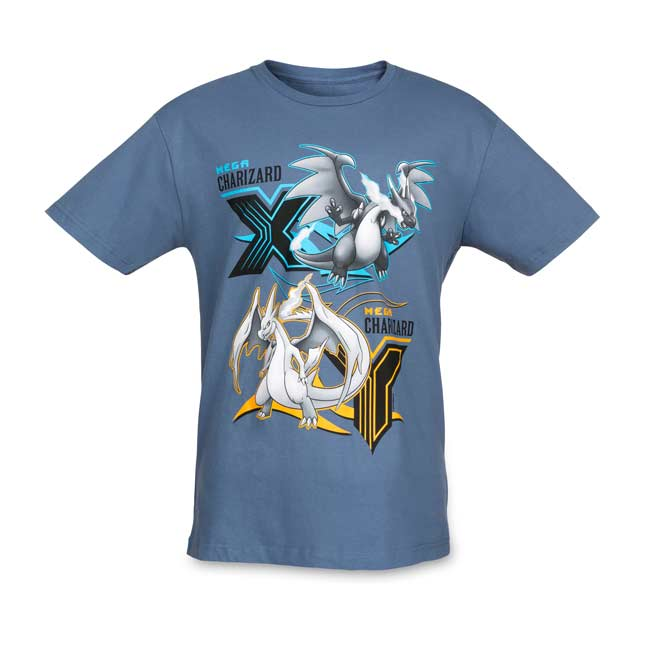Image for Mega Charizard X & Y Mega Evolutions Men's Fitted Crewneck T-shirt from Pokemon Center