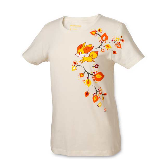Image for Fall Fennekin Women's Fitted Crewneck T-shirt from Pokemon Center