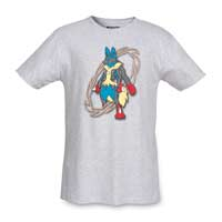Image for Mega Lucario Mega Evolutions Men's Fitted Crewneck T-Shirt from Pokemon Center