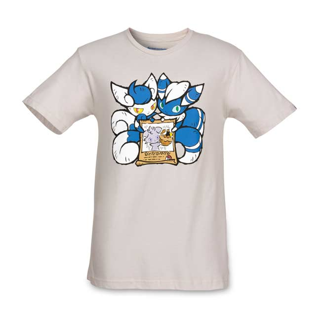 Image for Espurr & Meowstic Wanted Relaxed Fit Crewneck T-Shirt from Pokemon Center