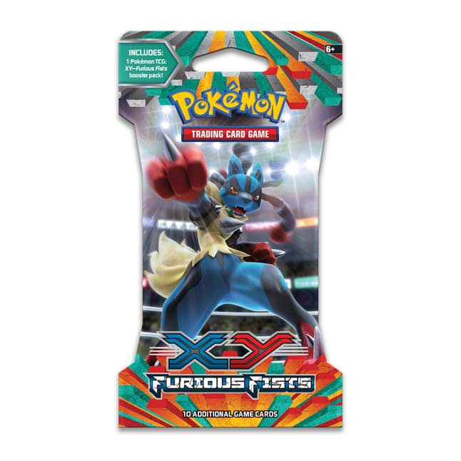 Image for Pokémon TCG: XY—Furious Fists Sleeved Booster Pack (10 Cards) from Pokemon Center