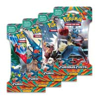 Pokemon Trading Card Game: XY Furious Fists Booster Packs 4 Pack Lot 4 Four Packs