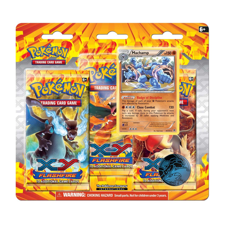 Pokémon TCG: XY-Flashfire 3-Pack Blister (Machamp)