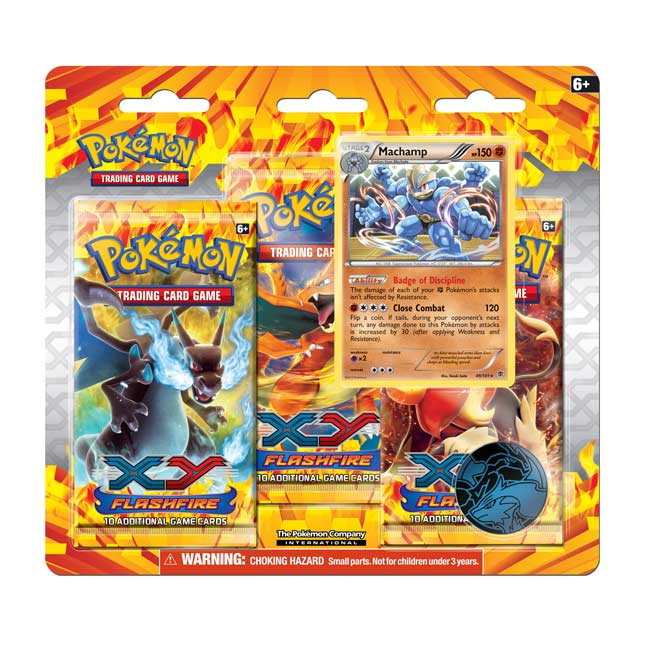 Image for Pokémon TCG: XY-Flashfire 3-Pack Blister (Machamp) from Pokemon Center