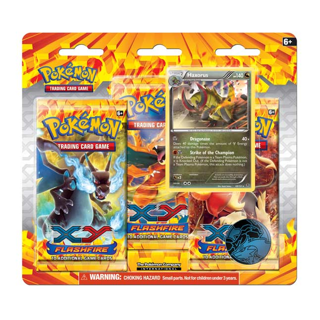 Image for Pokémon TCG: XY-Flashfire Expansion 3-Pack Blister (Haxorus) from Pokemon Center