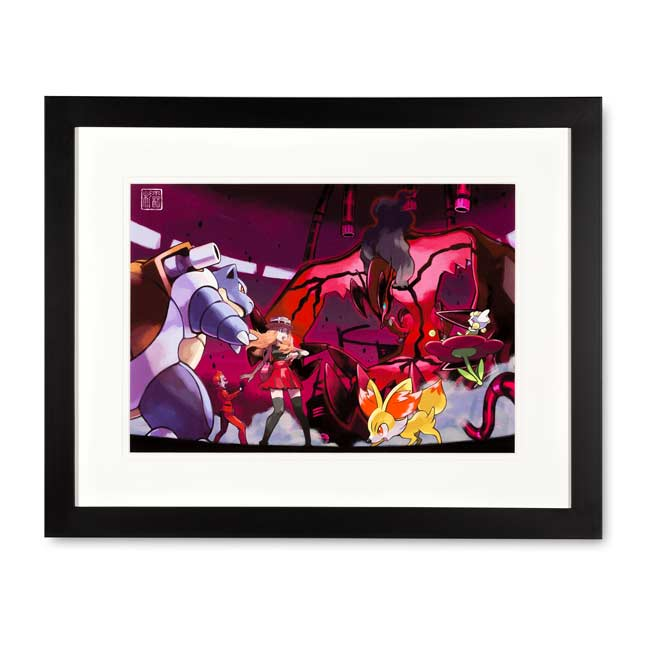 Image for Yveltal Framed Art Print by Ken Sugimori from Pokemon Center