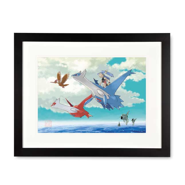 Image for Latios & Latias Framed Art Print by Ken Sugimori from Pokemon Center
