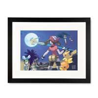 Image for Jirachi Framed Art Print by Ken Sugimori from Pokemon Center