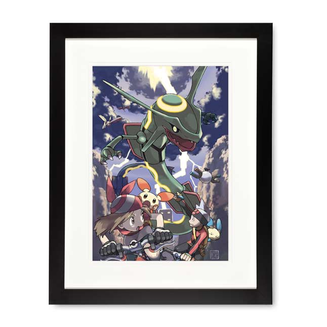 Image for Rayquaza Framed Art Print by Ken Sugimori from Pokemon Center