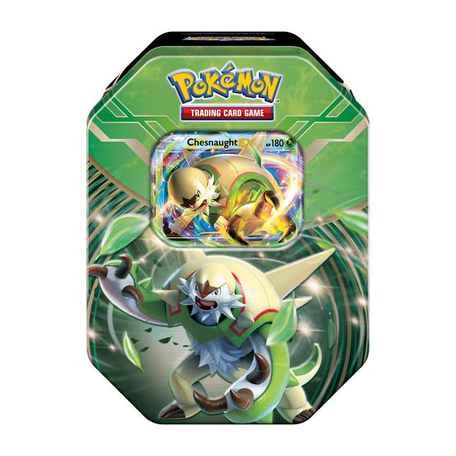 Image for Pokémon TCG: Kalos Power Tin (Chesnaught-EX) from Pokemon Center