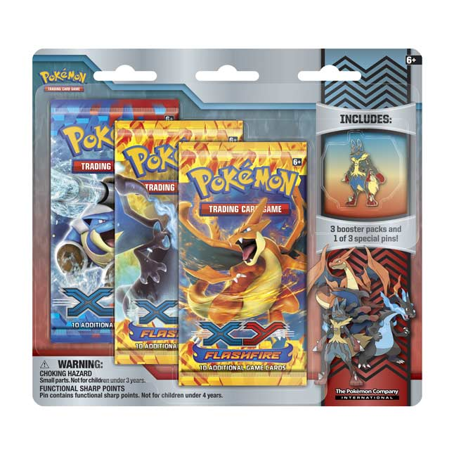 Image for Pokémon TCG: 3 Booster Packs with Mega Lucario Collector's Pin from Pokemon Center