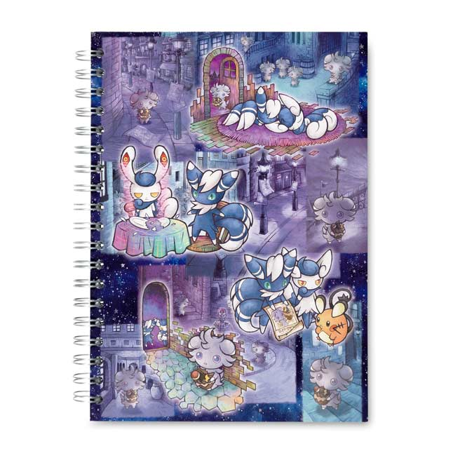 Image for Espurr & Meowstic Wanted Spiral Notebook (200 Pages) from Pokemon Center