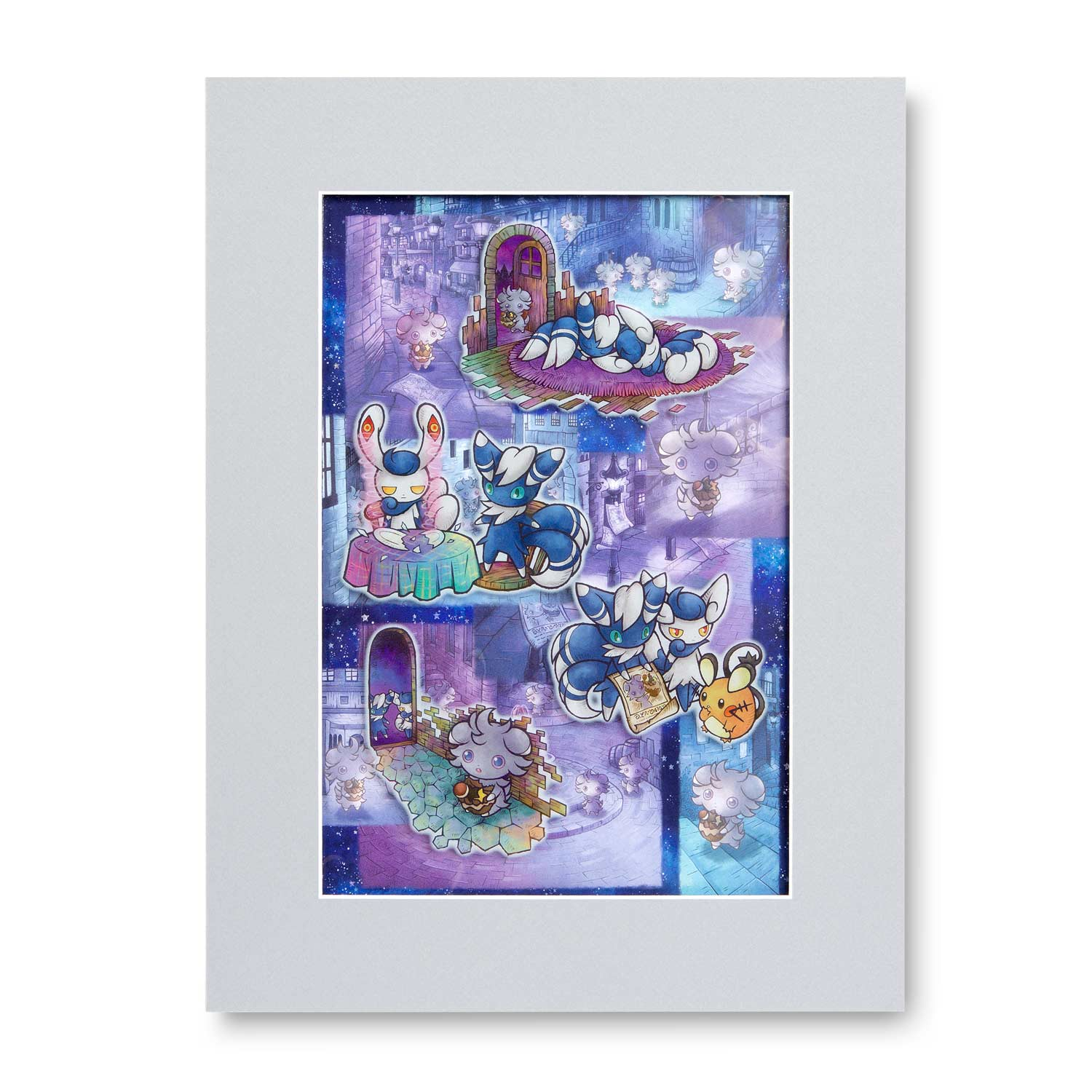 e5c2bfaca577bd Image for Espurr Meowstic Wanted Art Print from Pokemon Center