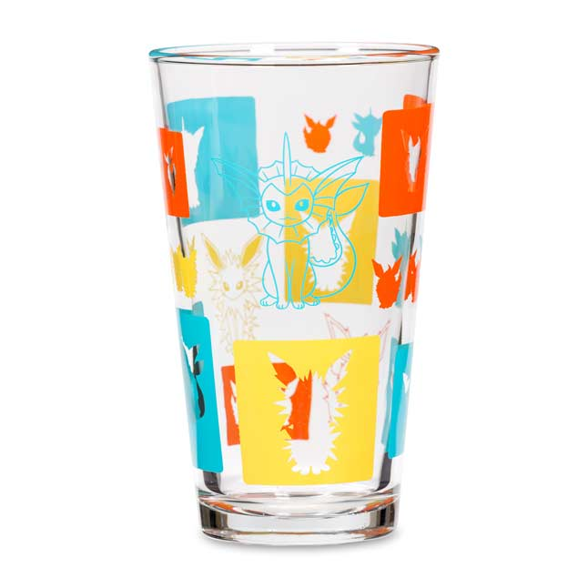 Image for Flareon Jolteon Vaporeon Eevee Elements Glass Tumbler from Pokemon Center