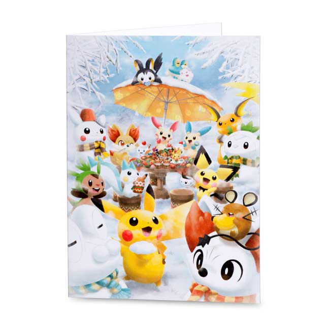 Image for Snow Scene Holiday Greeting Cards (12 cards, envelopes, and seals) from Pokemon Center
