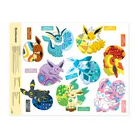 Image for Eevee Essences Wall Graphics (Set of 9) from Pokemon Center
