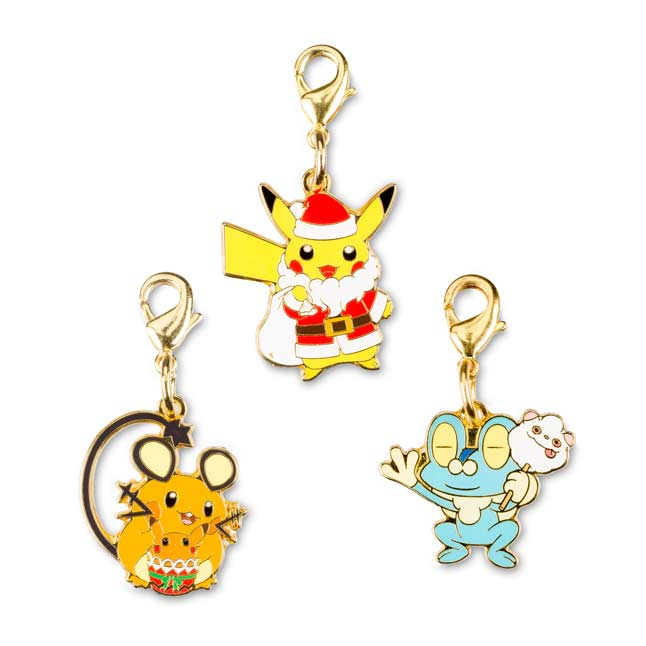 Image for Pikachu Dedenne Froakie Holiday Pokémon Minis (3 Pack) from Pokemon Center