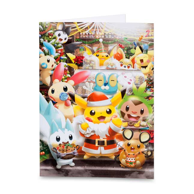 Image for Pikachu Holiday Greeting Cards (12 Cards with Seals and Envelopes) from Pokemon Center