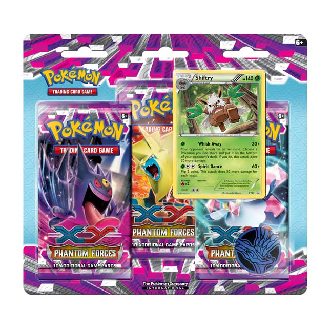 Image for Pokémon TCG: XY—Phantom Forces 3-Pack Blister (Shiftry) from Pokemon Center