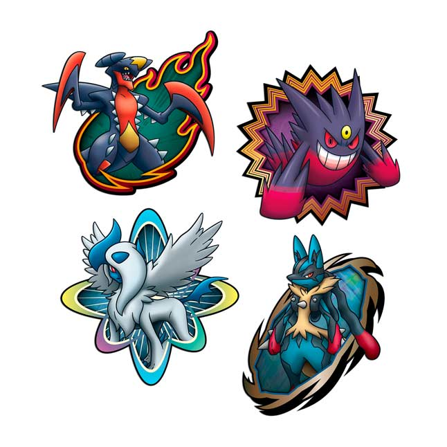Image for Mega Mayhem Wall Graphics (4 Sets) from Pokemon Center