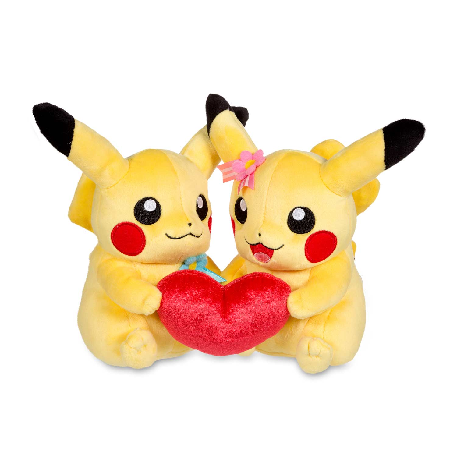 Perfect Pair Pikachu Pok Plush Pikachu Heart Plush Toy