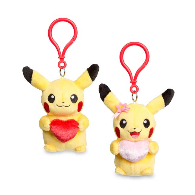Image for Pumpkin Pikachu Plush Keychain (2 Pack) from Pokemon Center