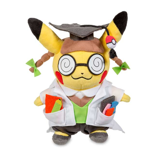 "Image for Cosplay Pikachu: Pikachu, Ph.D. Poké Plush (Standard Size) - 10 1/2"" from Pokemon Center"
