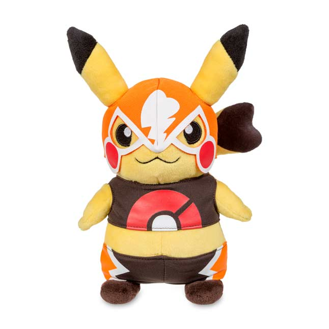 "Image for Cosplay Pikachu: Pikachu Libre Poké Plush (Standard Size) - 9 1/4"" from Pokemon Center"