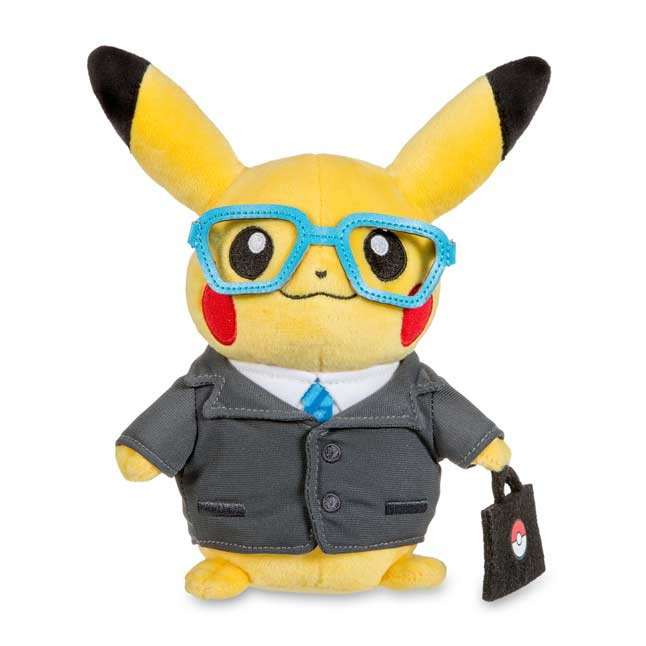 "Image for Pikachu Celebrations: Intern Pikachu Poké Plush (Standard Size) - 7 1/4"" from Pokemon Center"