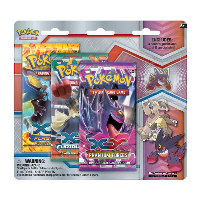 Image for Pokémon TCG: Collector's Pin 3-Pack Blister (Mega Gengar) from Pokemon Center