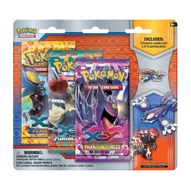 Image for Pokémon TCG: Collector's Pin 3-Pack Blister (Primal Kyogre) from Pokemon Center