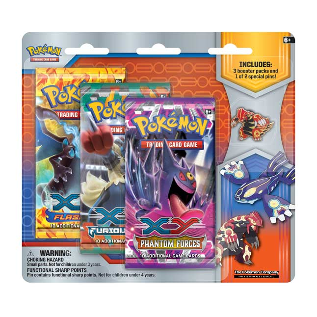 Image for Pokémon TCG: Collector's Pin 3-Pack Blister (Primal Groudon) from Pokemon Center