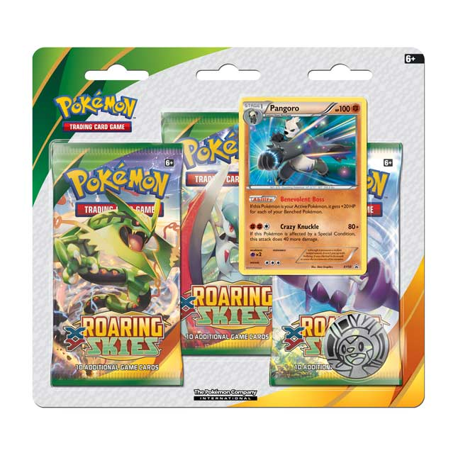 Image for Pokémon TCG: XY—Roaring Skies 3-Pack Blister (Pangoro) from Pokemon Center