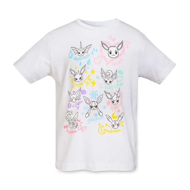 Image for Eevee Doodles Youth Relaxed Fit Crewneck T-Shirt from Pokemon Center