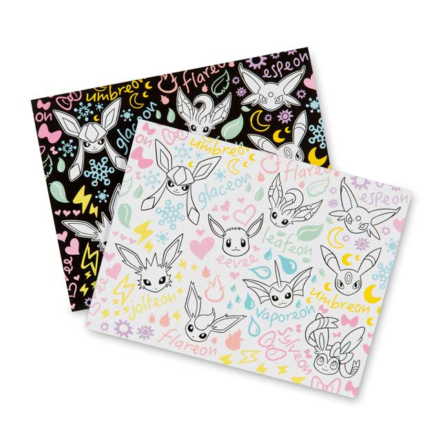 Image for Eevee Doodle Note Cards (8 Cards with Seals and Envelopes) from Pokemon Center