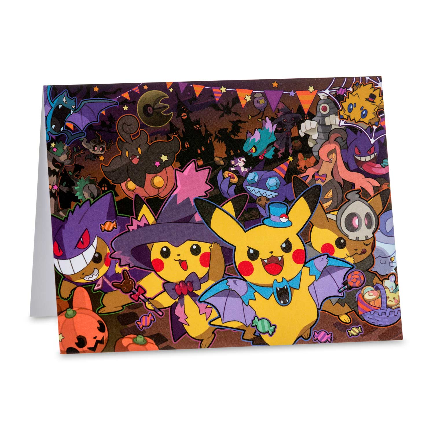image for pikachu halloween note card set 8 cards with seals and envelopes from