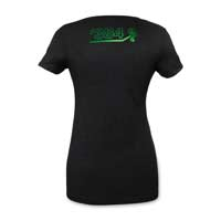 Image for Mega Rayquaza Eclipse Women's Emerald Foil Fitted V-Neck T-Shirt from Pokémon Center