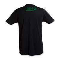 Image for Mega Rayquaza Eclipse Fitted Men's Emerald Foil Crewneck T-Shirt from Pokemon Center