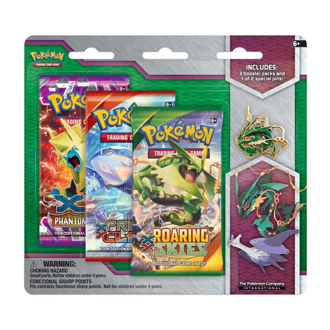 Image for Pokémon TCG: Collector's Pin 3-Pack Blister (Mega Rayquaza) from Pokemon Center