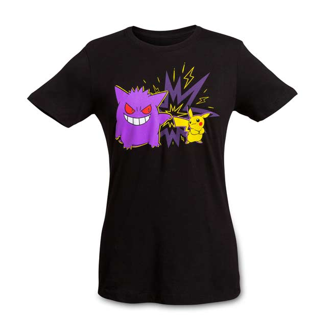 Image for Team Pikachu and Gengar Women's Fitted Crewneck T-Shirt from Pokemon Center