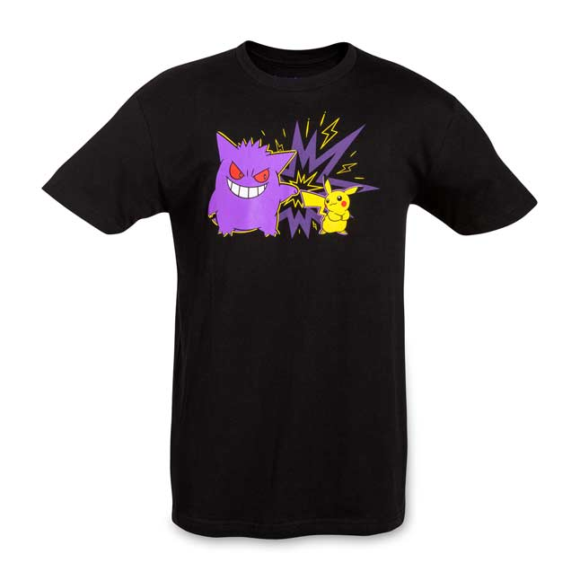 Image for Team Pikachu and Gengar Men's Fitted Crewneck T-Shirt from Pokemon Center