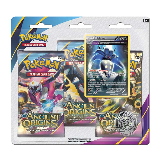 Image for Pokémon TCG: XY-Ancient Origins 3-Pack Blister (Malamar) from Pokemon Center