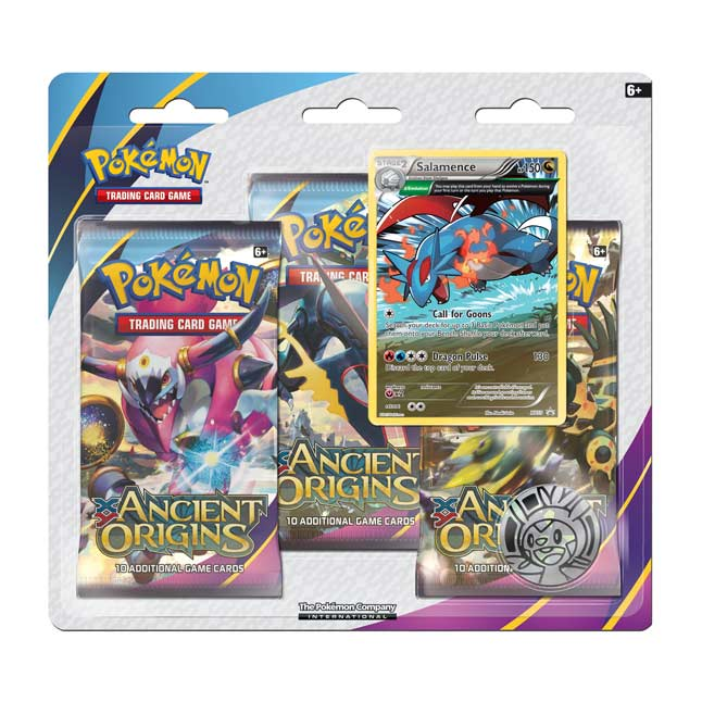 Image for Pokémon TCG: XY-Ancient Origins 3-Pack Blister (Salamence) from Pokemon Center
