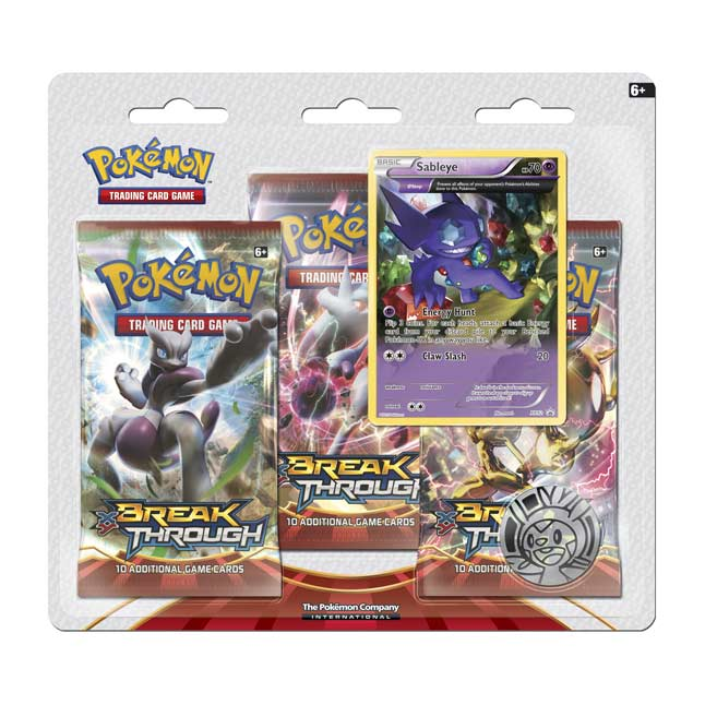 Image for Pokémon TCG: XY-BREAKthrough Boosters (3 Booster Packs with Bonus Sableye Promo Card) from Pokemon Center