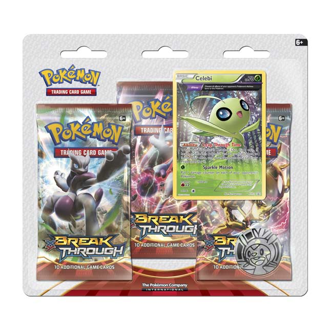 Image for Pokémon TCG: XY-BREAKthrough Boosters (3 Booster Packs with Bonus Celebi Promo Card) from Pokemon Center
