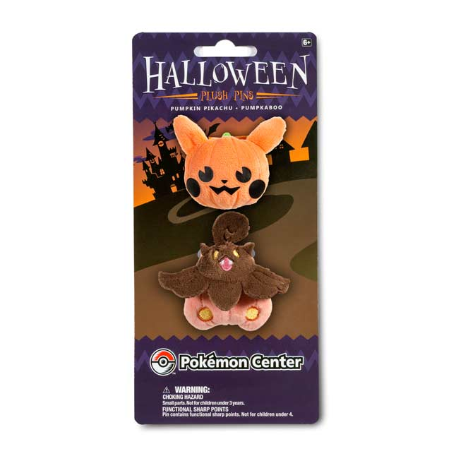 Image for Pumpkin Pikachu and Pumpkaboo Plush Pin Set (2 Pack) from Pokemon Center